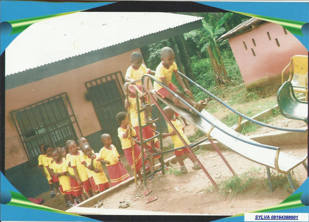 Recess time at Bishop Anayochuku Iloputaife Christian School and Orphanage