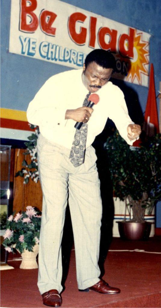 The Bishop leading in prayers _ Lagos Nigeria.